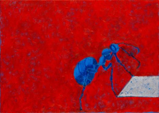 Mravenec, 2020, olej, plátno, 12.600,-Kč