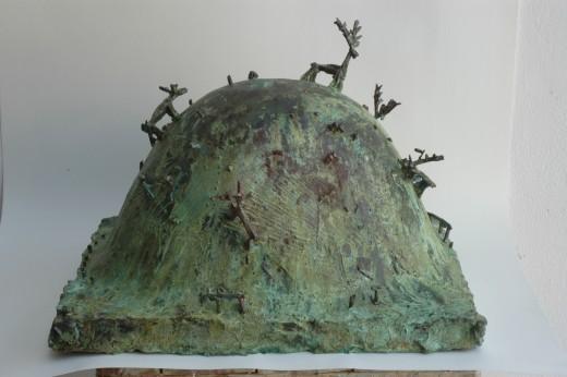 Zdeněk Tománek, Mound, 2010, bronze, 34×46×40 cm