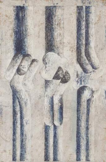 tempera na papíře, 55×84 cm, počátek 70. let