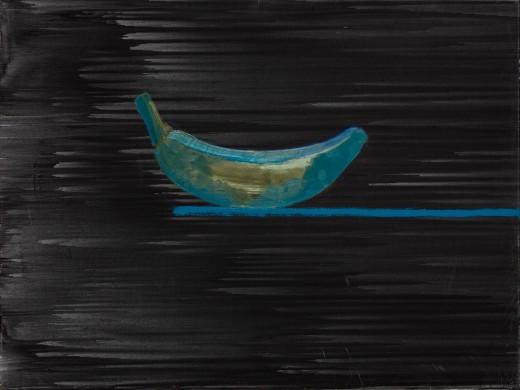 Banán, 2021, olej, plátno, 15.000,- Kč