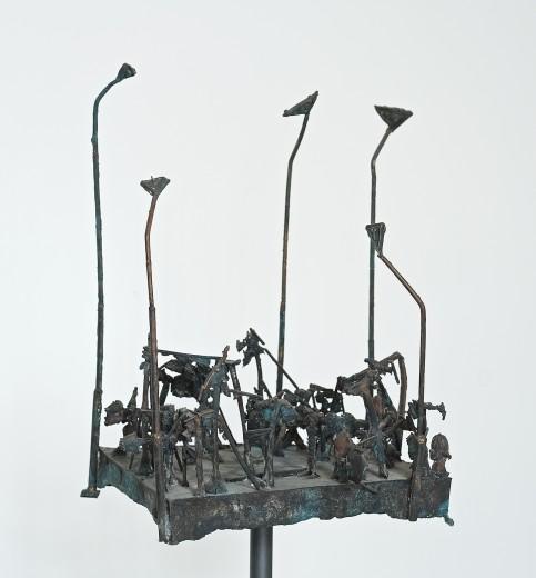 Zdeněk Tománek, Square, 2015, bronze, 66×55×34 cm