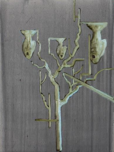 Rybí strom, 2021, olej, plátno, 13.800,-Kč