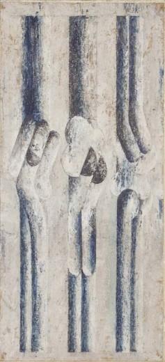 tempera na papíře, 34×111 cm, počátek 70. let