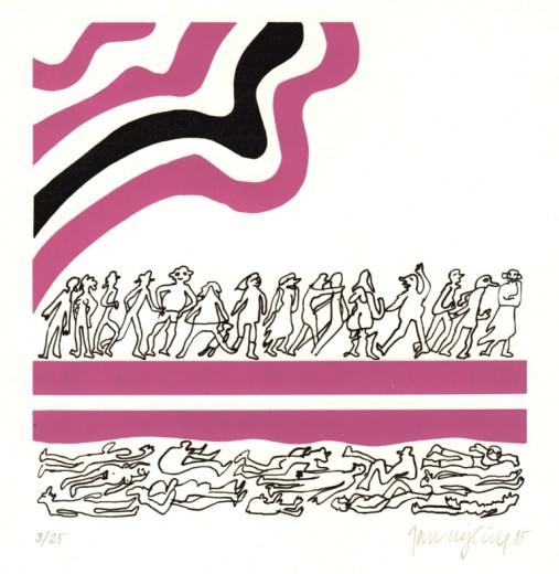 Dny, 1985, serigrafie, 15x15 cm (29,7x21 cm)