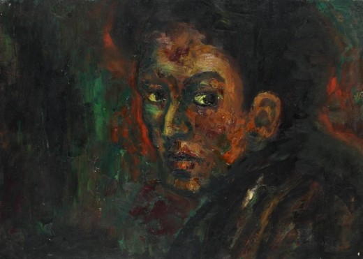 Self-portrait (by Muncha), 1st half of the 40s, oil, 44.5 x 62.5 cm