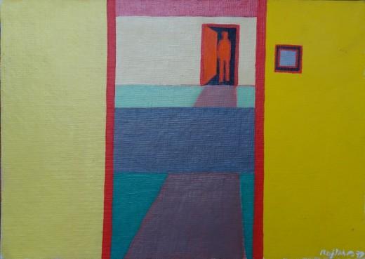 Dobré ráno, 1979, olej, lepenka, 24,5x35 cm