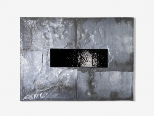 Anthropoid,2009,glass and lead,150x215x6 cm