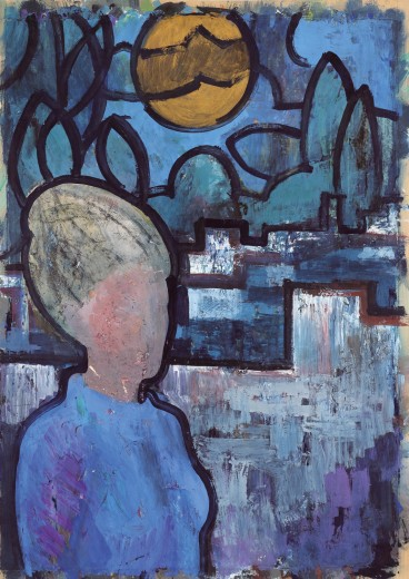 Untitled, around 1965, tempera, 87.5 x 62.5 cm