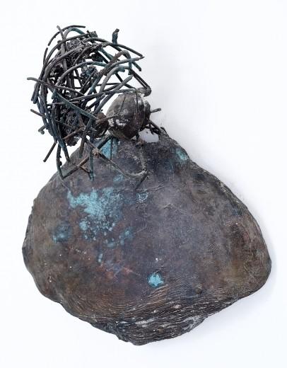Zdeněk Tománek, Forlorn, 2014, bronze, 69×62 cm
